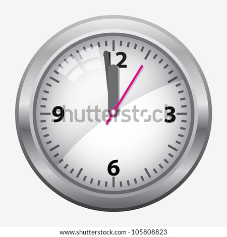 time concept with watch or clock on white wall - stock vector
