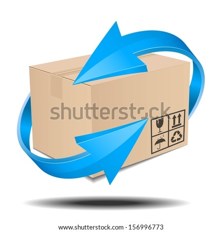 time delivery services - stock vector