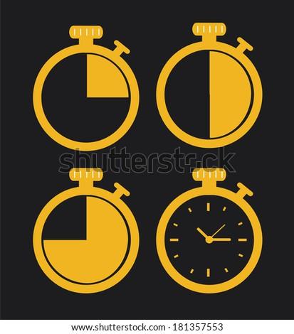 time design over black background, vector illustration - stock vector