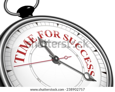 time for success concept clock isolated on white background - stock vector