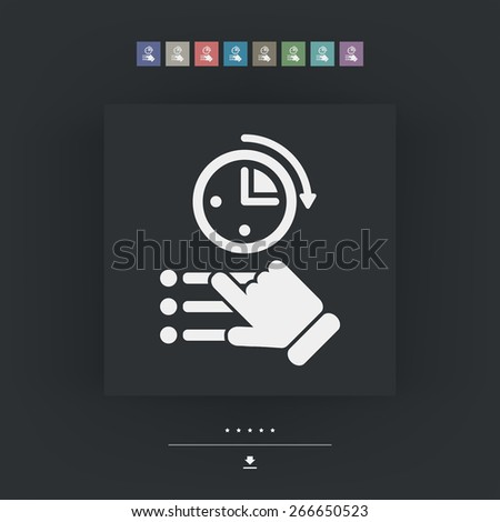 Time for test - stock vector