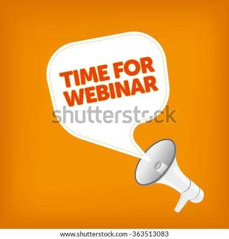 TIME FOR WEBINAR - stock vector