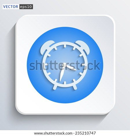 Time icon - vector web illustration with shadow on a grey background - stock vector