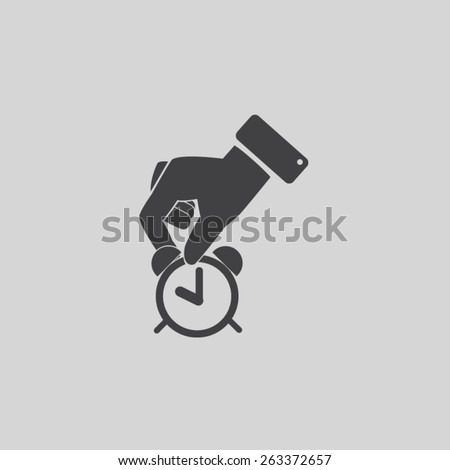 time in the hand vector icon  - stock vector