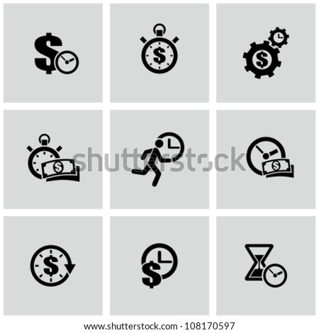 Time is a money - stock vector