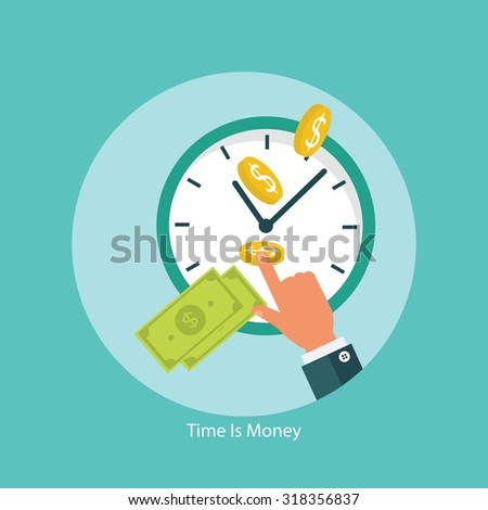 Time is money financial concept - stock vector