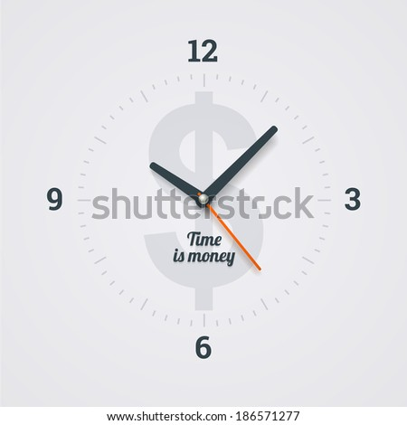 Time is money. Illustration in EPS10. - stock vector