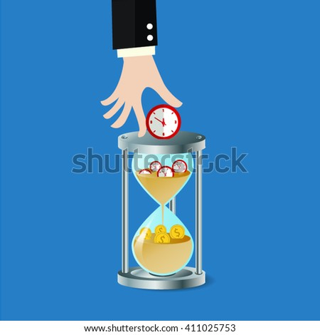 Time is money. Management  finance concept. - stock vector