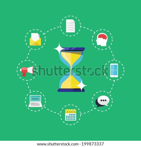 Time management concept. - stock vector