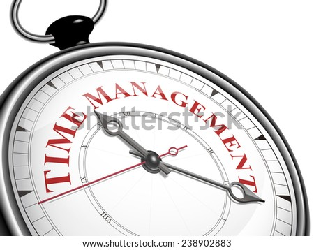 time management concept clock isolated on white background - stock vector