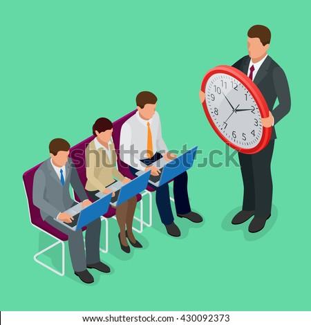 Time management concept. Time management planning. Time management organization. Time management working. Time management Flat. Time management 3d. Time management vector. Time management isometric - stock vector