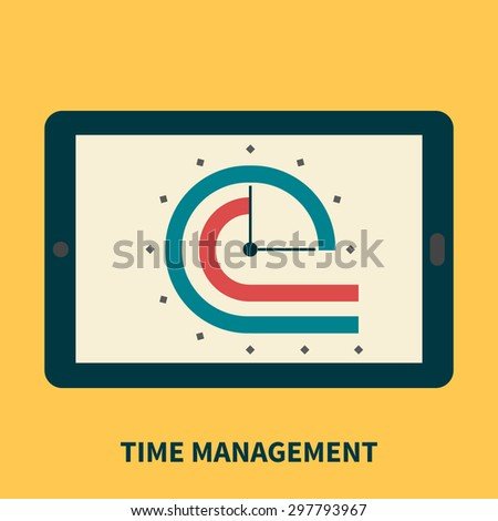Time management, control performance - isolated flat vector illustration. - stock vector