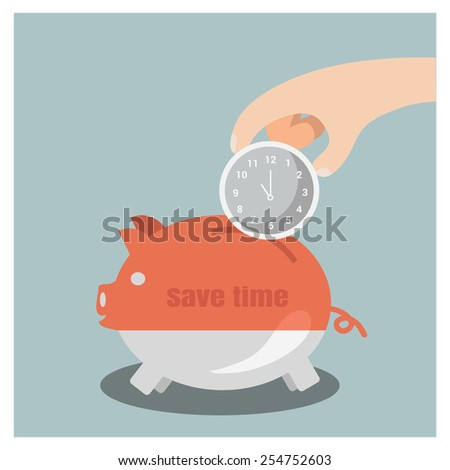 Time saving,business and finance concept - stock vector