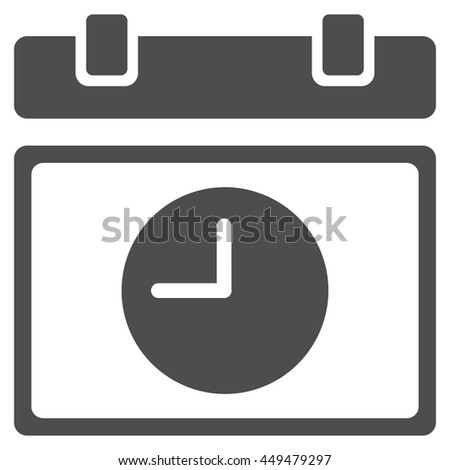Time Schedule vector icon. Style is flat symbol, gray color, rounded angles, white background. - stock vector
