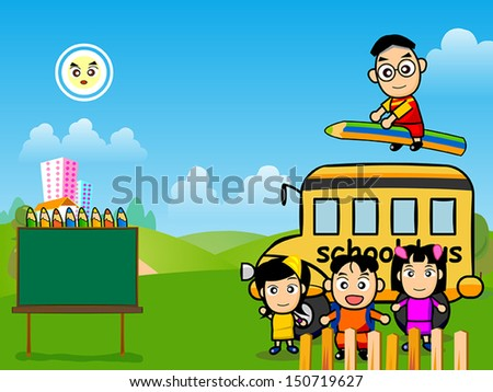 Time to go back school - stock vector