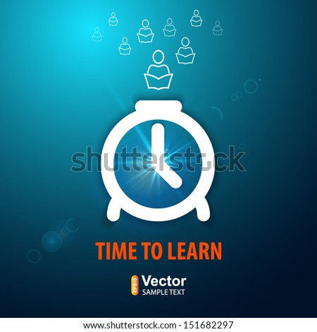 Time to learn - stock vector