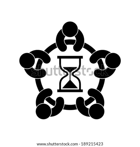 time to plan icon - stock vector