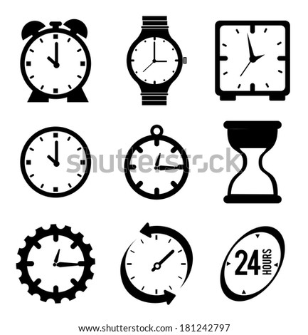 time watch over  background vector illustration - stock vector