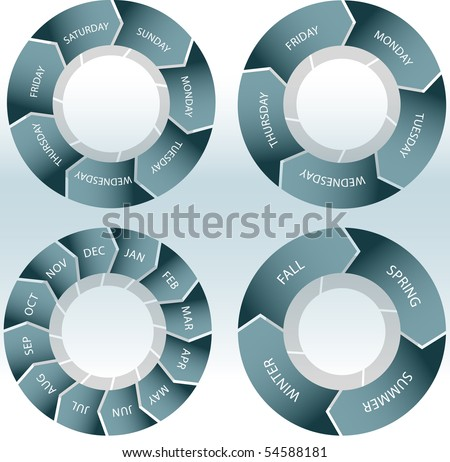 Time Wheels - stock vector
