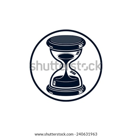 Time without end conceptual icon, web design element. 3d antique hourglass isolated on white. Time management idea. - stock vector