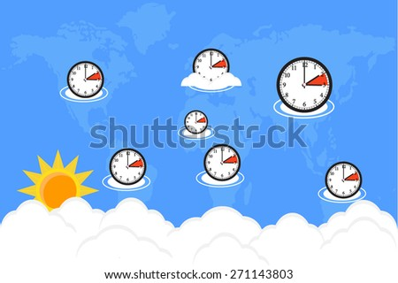 time world change  - stock vector