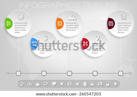 Timeline and frames - modern infographic template - stock vector