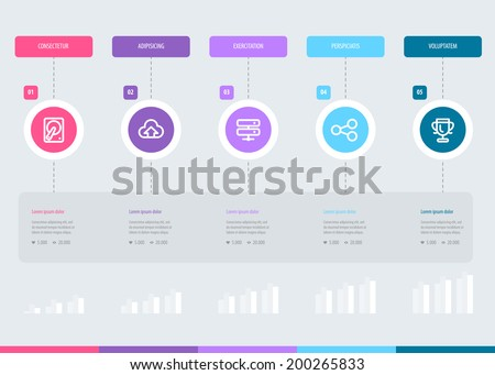 Timeline Infographic design template. Eps 10 - stock vector