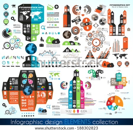 Timeline Infographic design template.  With paper tags. Idea to display information, ranking and statistics with orginal and modern style. - stock vector