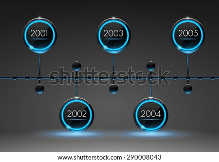 Timeline infographic template 3d. Vector illustration. EPS 10 - stock vector