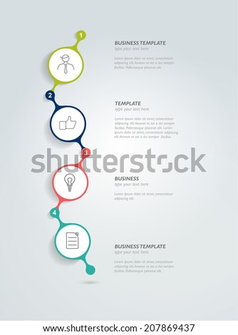 Timeline infographic template. Vector circle banner.  - stock vector