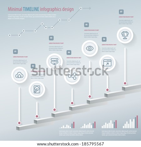 Timeline Infographic. Vector design template. Eps 10. - stock vector