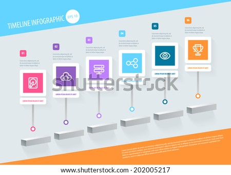 Timeline Infographic. Vector design template eps 10. - stock vector