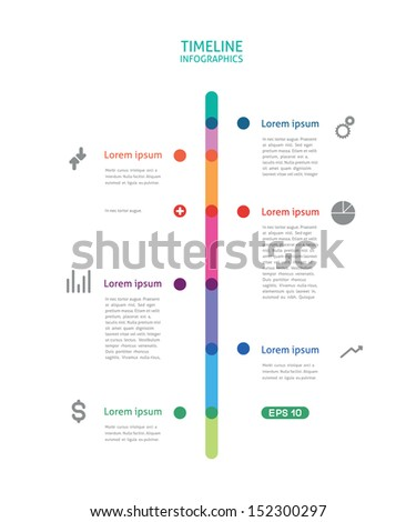 timeline infographics - stock vector
