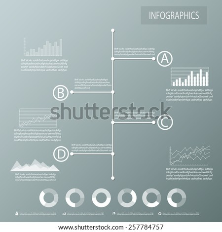 Timeline infographics, elements and icons. Vector - stock vector