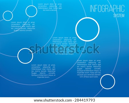 Timeline vector infographic with copyspace - stock vector