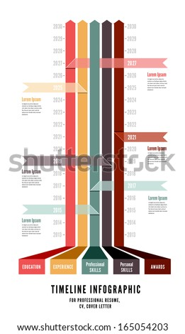 Timeline Web Element Template - stock vector