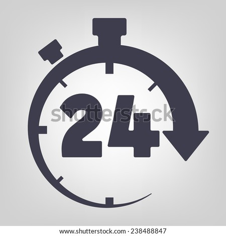 Timer icon black vector time clock simple - stock vector