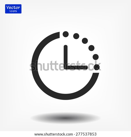 timer icon. Vector  Eps 10  - stock vector