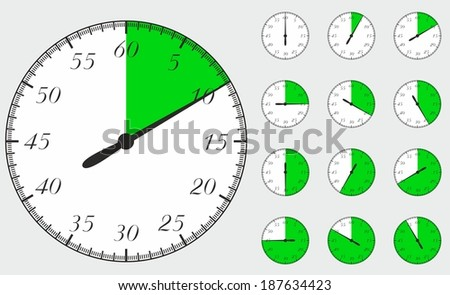 Timers vector - stock vector