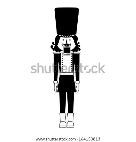 tin soldier toy over white background vector illustration - stock vector