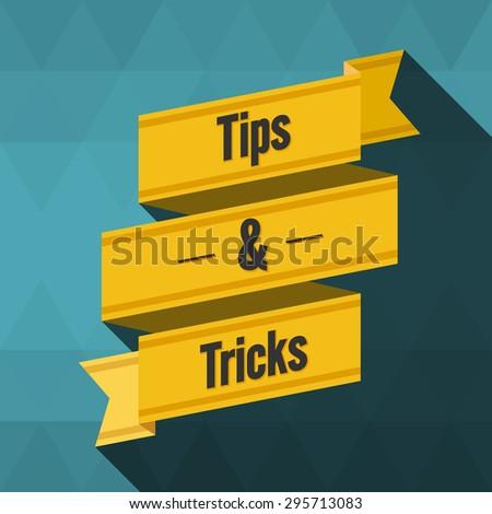 Tips and tricks ribbon design - stock vector
