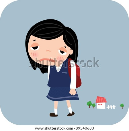 Tired Academic Life - stock vector