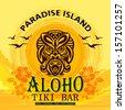 Tki Bar / Tropical Beach / Paradise Island - stock vector