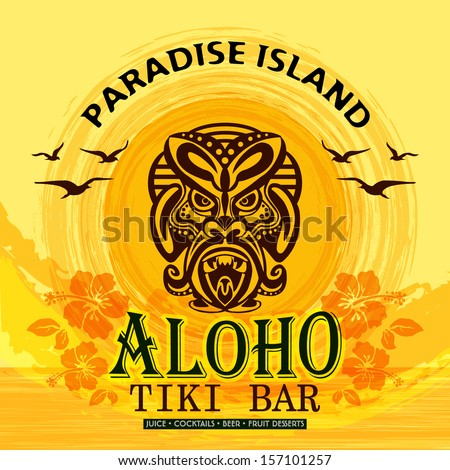 Tki Bar / Tropical Beach / Paradise Island - stock vector