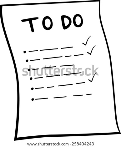 to do list - stock vector