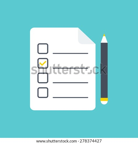 To do list icon. Checklist icon. Flat style. Vector illustration - stock vector