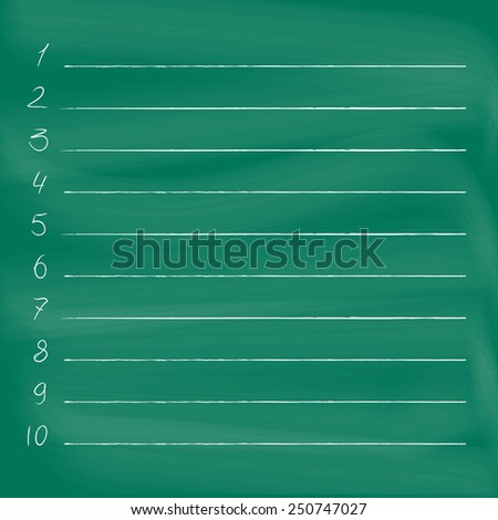 To do list on blackboard. Chalkboard image with empty to do list  - stock vector