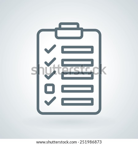To-Do List Productivity Line Icon - stock vector