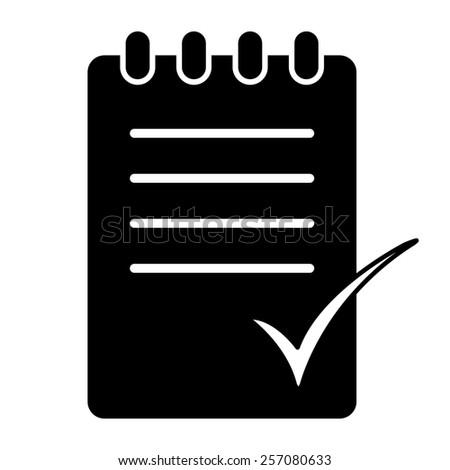 To do list vector icon - black illustration - stock vector