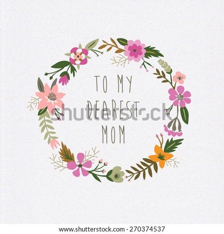 To My Dearest Mom - stock vector